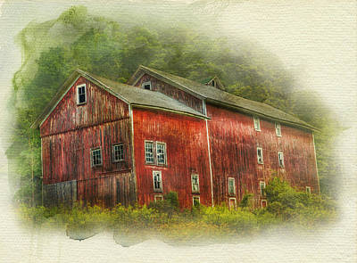Poster featuring the photograph Country Barn by Kathleen Holley