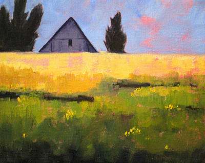Country Barn Poster by Nancy Merkle