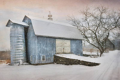 Country Blue Poster by Lori Deiter