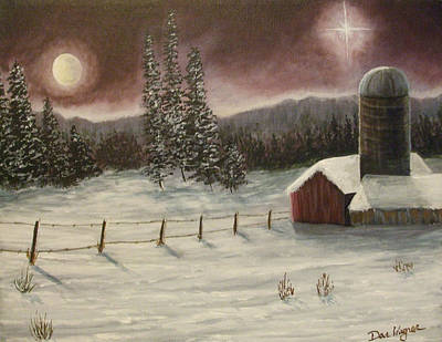 Poster featuring the painting Country Christmas by Dan Wagner