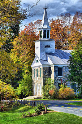 Country Church Poster by Barbara Manis