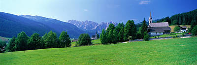 Country Churches Near Dachstein Gosau Poster by Panoramic Images