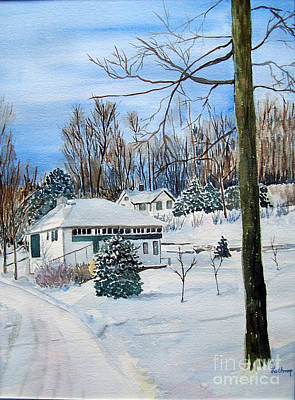 Country Club In Winter Poster by Christine Lathrop