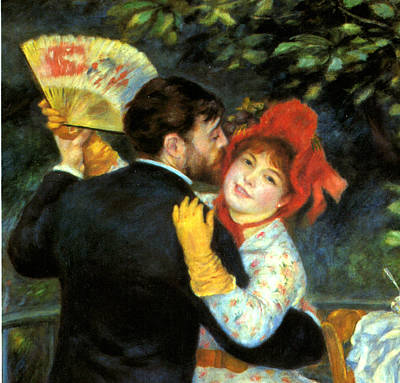 Country Dance Detail Poster by Pierre Auguste Renoir