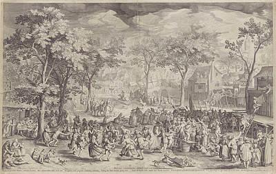 Country Fair, Ca. 1610 Poster by William Isaacsz. Van Swanenburg And Robert De Baudous And Richard Lubbaeus