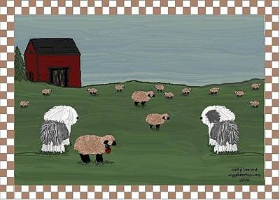 Country Field Sheepdogs Poster