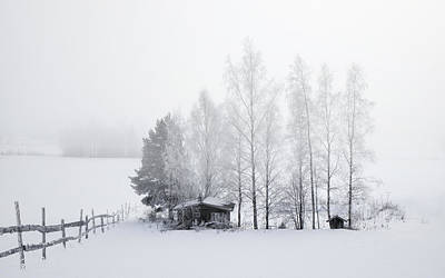 Country Home For Winter Poster