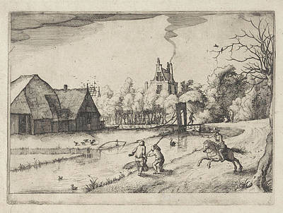 Country House And Orchard Of Jan Daimen, At Sloterdijk Poster