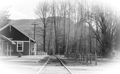 Poster featuring the photograph Country Train Depot by Tikvah's Hope