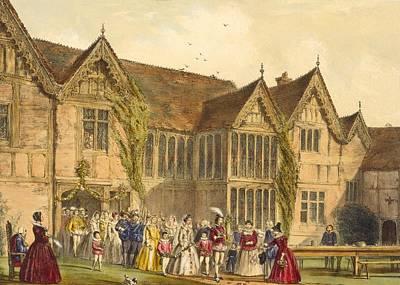 Country Wedding, Ockwells Manor Poster by Joseph Nash