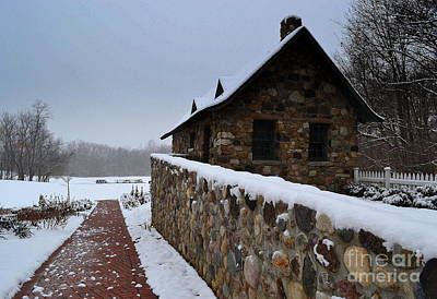 Country Winter Landscape  Poster