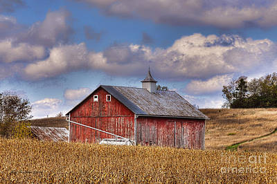 County G Barn In Autumn Poster by Trey Foerster