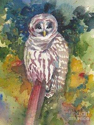 Coupeville Barred Owl Poster