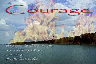 Courage Isaiah Be Not Afraid Poster by Robyn Stacey
