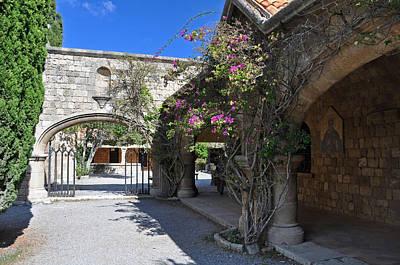 Courtyard At Ialyssos Monastery Rhodes Poster