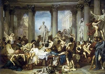 Couture, Thomas 1815-1879. The Romans Poster