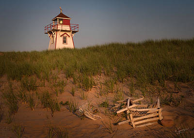Covehead Harbour Lighthouse Poster by Kasandra Sproson