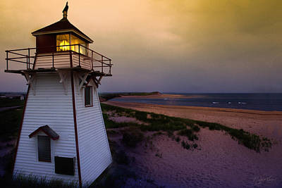 Covehead Lighthouse At Sunset Poster by Kasandra Sproson