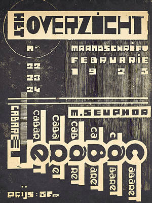 Cover For The Magazine Het Overzicht Poster