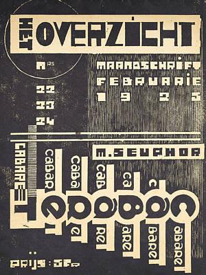 Cover For The Magazine Het Overzicht Poster by Belgian School