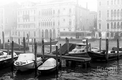 Covered Boats In Venice Poster
