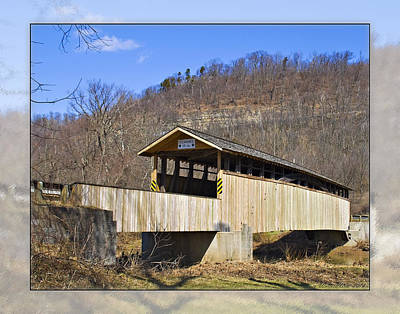 Covered Bridge In Pa. Poster