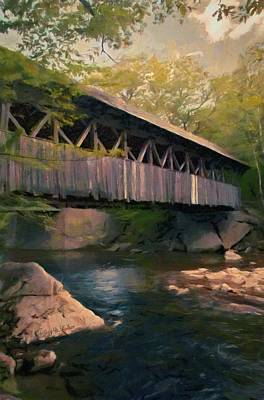 Poster featuring the painting Covered Bridge by Jeff Kolker