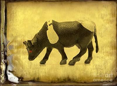 Cow Figurine Poster by Bernard Jaubert