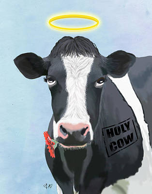 Cow Holy Cow Poster by Kelly McLaughlan