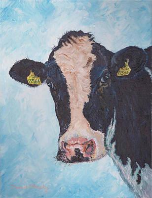 Cow No 02. 0566 Irish Friesian Cow  Poster