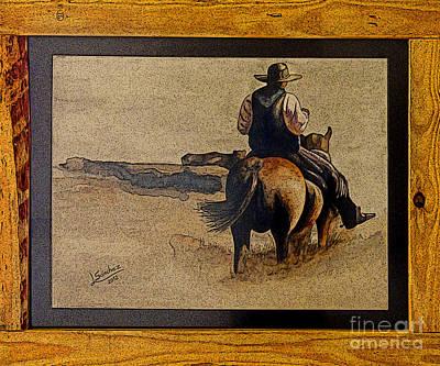 Cowboy Art By L. Sanchez Poster by Al Bourassa