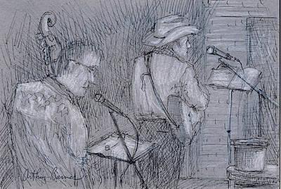Cowboy Band Poster by Arthur Barnes