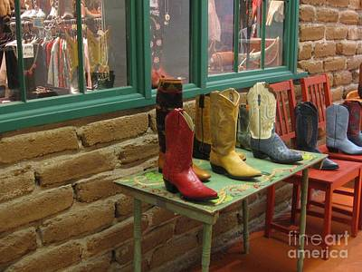 Poster featuring the photograph Cowboy Boots by Dora Sofia Caputo Photographic Art and Design