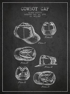 Cowboy Cap Patent - Charcoal Poster