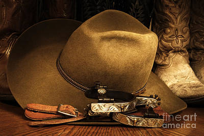 Poster featuring the photograph Cowboy Gear by Lincoln Rogers