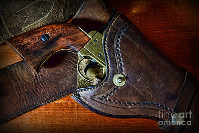 Cowboy Gun In Holster Poster by Paul Ward