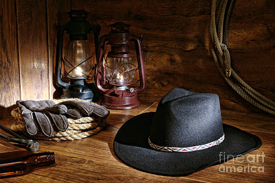 Cowboy Hat And Tools Poster