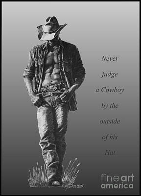 Cowboy Hat Verse Poster by Marianne NANA Betts