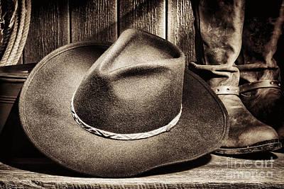 Cowboy Hat On Floor Poster