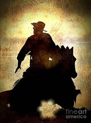 Cowboy In The Spotlight - No.1958 Poster