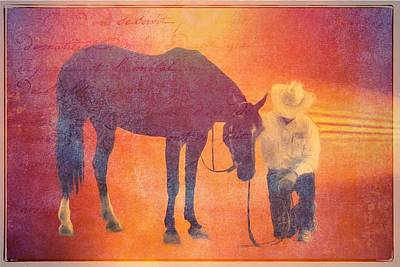 Cowboy Prayer Poster by Alice Gipson