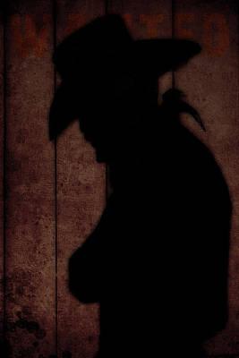 Cowboy Silhouette Profile  Poster