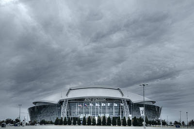 Cowboy Stadium Poster by Joan Carroll