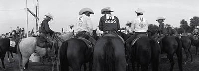 Cowboys On Horses At Rodeo, Wichita Poster by Panoramic Images