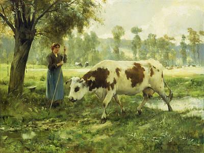 Cows At Pasture  Poster