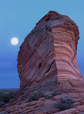 Coyote Buttes Moonrise Poster by Leland D Howard
