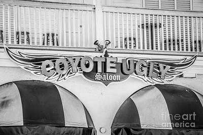 Coyote Ugly Key West - Black And White Poster