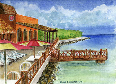 Cozumel Mexico Little Pier Poster by Frank Hunter