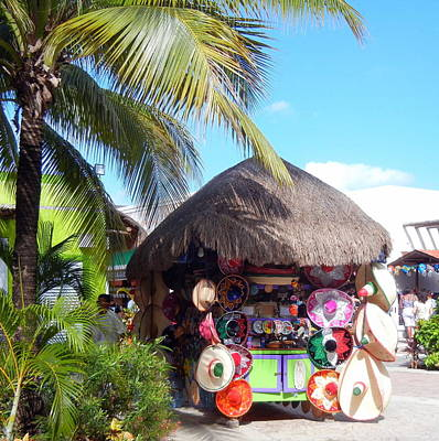 Poster featuring the photograph Cozumel Souvernir Shopping by Debra Martz
