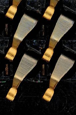 Cpu Socket Pins Poster by Antonio Romero